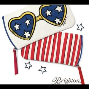 Brighton SHOW YOUR STRIPES Glasses Case NWT